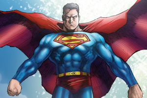 Superman Flying Artwork