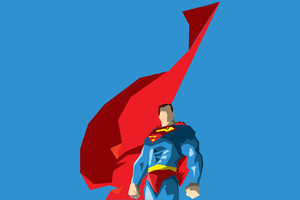 Superman Flying Cape Artwork