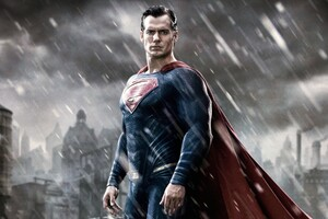 Superman In Batman Vs Superman Movie Wallpaper