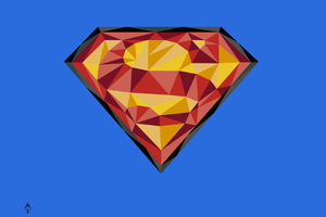 Superman Logo 4k Art