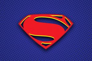 Superman Logo Illustration 5k Wallpaper