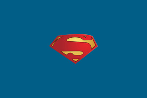Superman Logo Minimal Wallpaper
