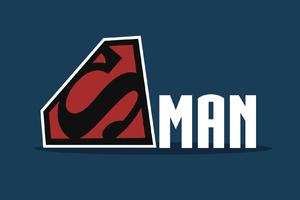 Superman Logo Minimalism Wallpaper