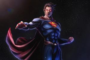 Superman Man Of Steel Comic Art Wallpaper