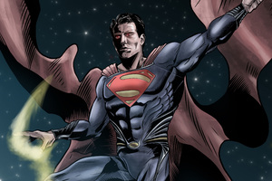 Superman Man Of Steel Digital Art Wallpaper