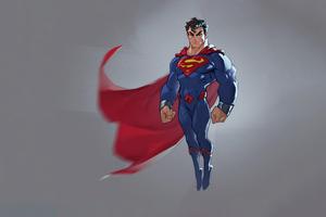 Superman Minimal Art 5k Wallpaper