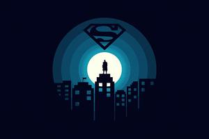 Superman Minimal Illustration 5k