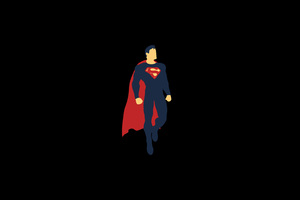Superman Minimalism 4k Wallpaper