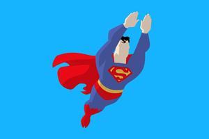 Superman Minimalism 5k Wallpaper