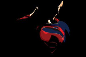 Superman Minimalism Logo 4k