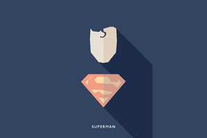 Superman Minimalists 4k Wallpaper