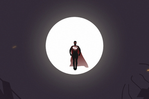 Superman Moon Knight Wallpaper
