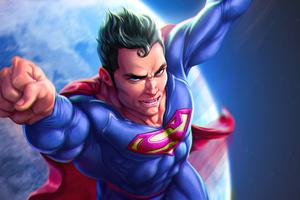 Superman Outside World Wallpaper