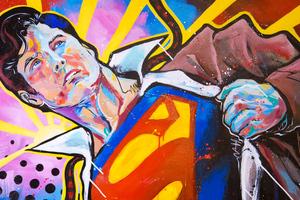Superman Painting Art 4k
