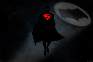 Superman Red Eye Bat Signal