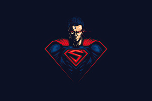 Superman Red Eye Minimalism