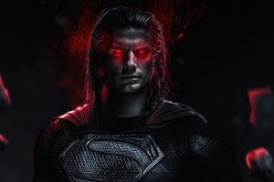Superman Red Eyes Glowing 4k Wallpaper