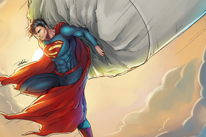 Superman Saving Plane