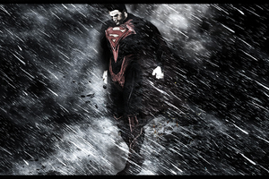 Superman Through Rain And Storm
