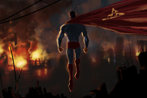 Superman Up Artwork Wallpaper