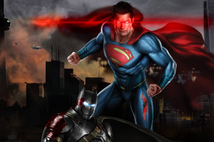 Superman Vs Batman 5k Art