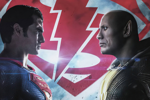 Superman Vs Black Adam 4k Wallpaper