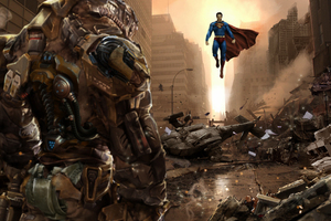 Superman Vs Darkseid 4k Wallpaper