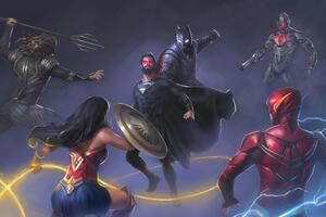 Superman Vs Justice League Artwork