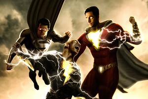 Superman X Shazam X Black Adam 4k Wallpaper