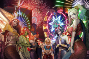 Supervillains Happy New Year Wallpaper