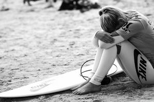 Surfing Girl Wallpaper