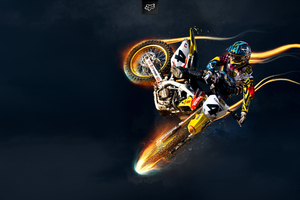 Suzuki Bike Stunts Wallpaper