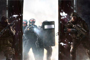 Swat Police 4k Wallpaper