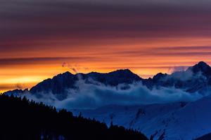 Swiss Sunset Mountains 5k Wallpaper