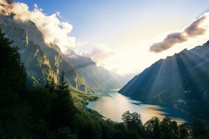 Switzerland Alps Mountains Morning 4k Wallpaper
