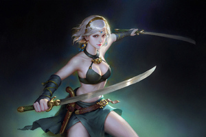 Sword Girl4k Wallpaper
