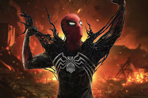 Symbiote Spiderman 4k