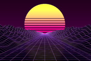 Synthwave 8k Wallpaper