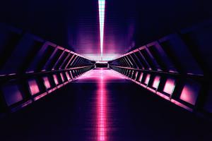 Synthwave Aesthetic Corridor 4k