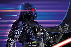 Synthwave Darth Vader Wallpaper