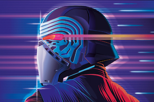 Synthwave Kylo Ren Wallpaper