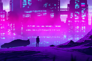 Synthwave Purple City