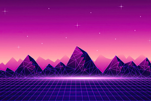Synthwave Pyramid 4k Wallpaper