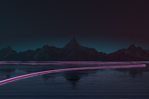 Synthwave Road 4k Wallpaper