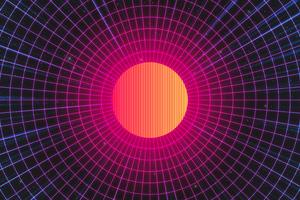 Synthwave Sun 4k