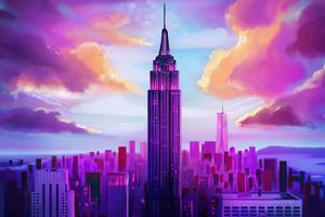 Tall Buildings Minimal 5k Wallpaper