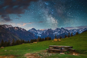 Tatras Mountains Milky Way Wallpaper