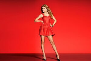 Taylor Swift In Red Dress Wallpaper