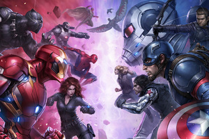Team Iron Man And Team Captain America Wallpaper