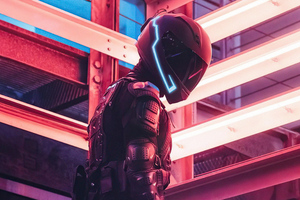 Tech Noir Helmet Scifi 5k Wallpaper